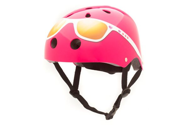 Kinderhelm Pink / Brille Small