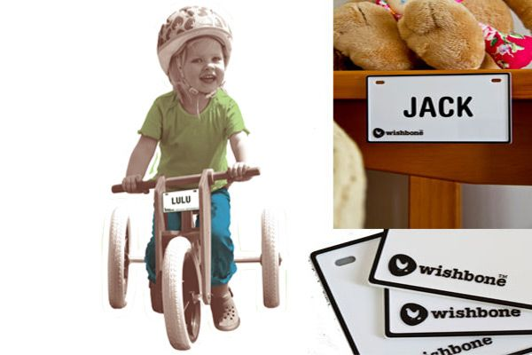 Wishbonebike Namensschild.