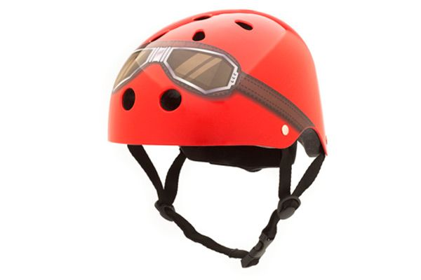 Kinderhelm Rot / Brille Small